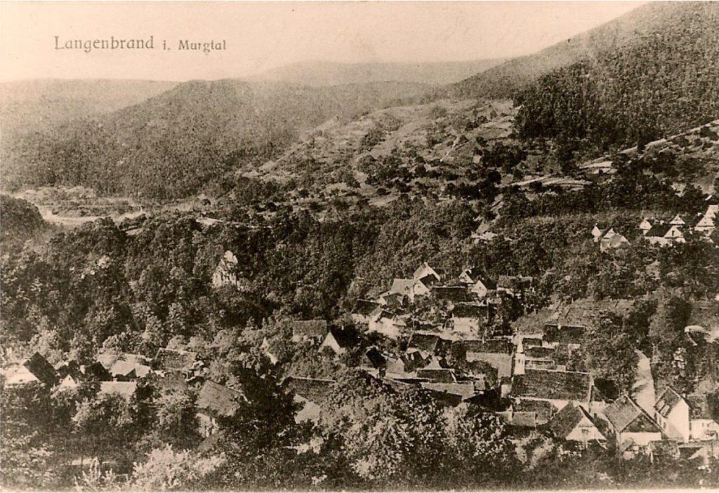 Historisches Bild der Ortschaft Langenbrand