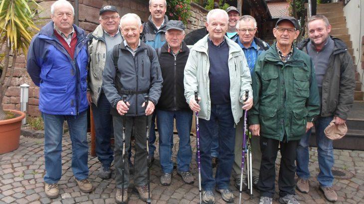 Die Jedermänner bei ihrem Ausflug nach Bad Bergzabern