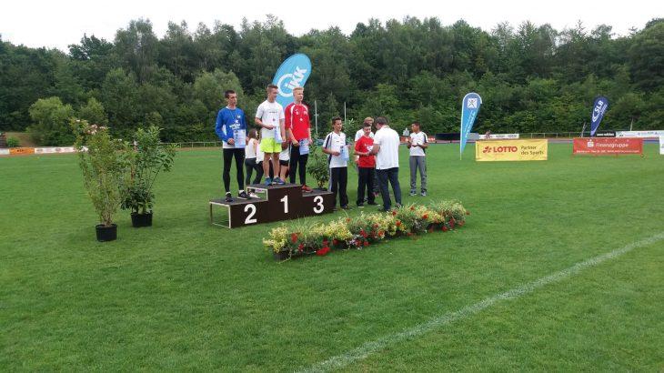Siegerehrung für Paul Stößer bei den Süddeutschen Meisterschaften
