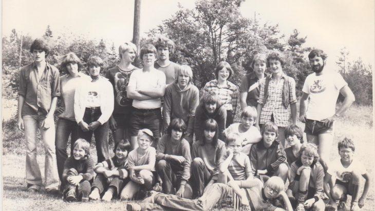Die Teilnehmer des Zeltlagers 1980 in Schnaitheim