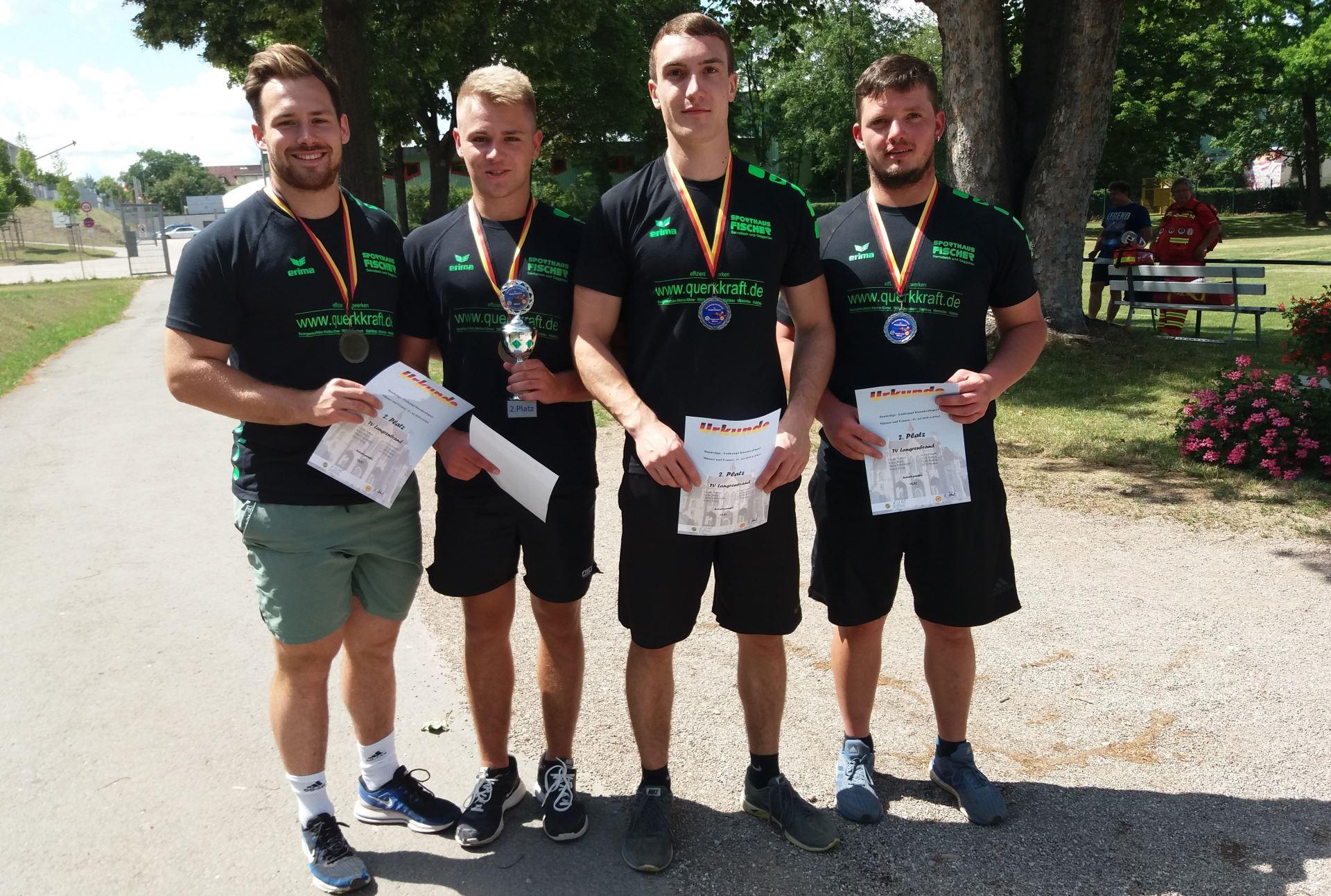 Mannschaft des TVL bei den Deutschen Meisterschaften in Erfurt