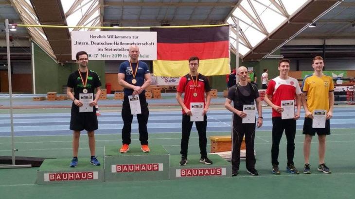 Intern. Deutsche-Hallenmeisterschaft im Steinstoßen