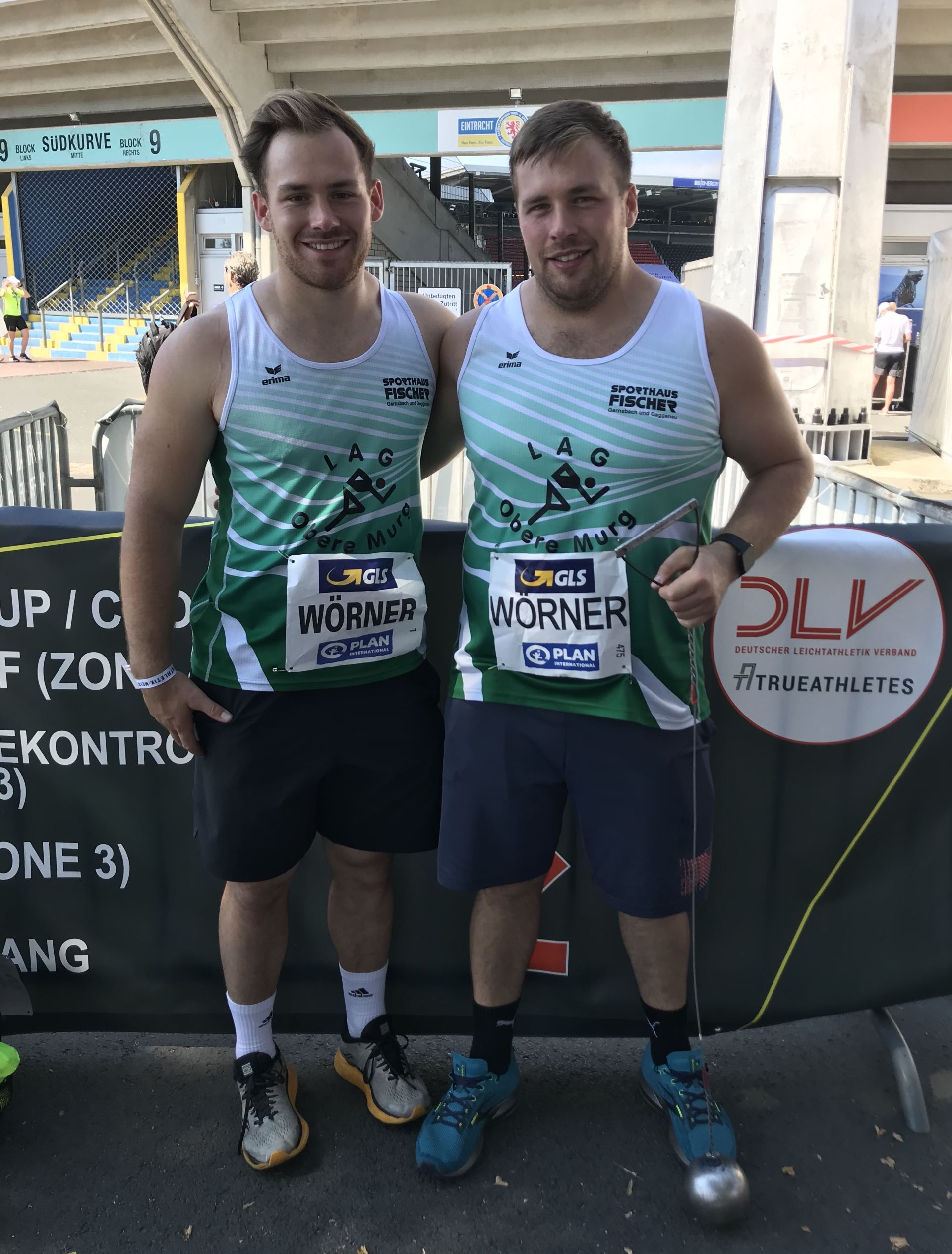 Corsin und Bastin Wörner bei den Deutschen Meisterschaften Hammerwurf 2020