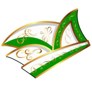 Eine Narrenkappe in Grün