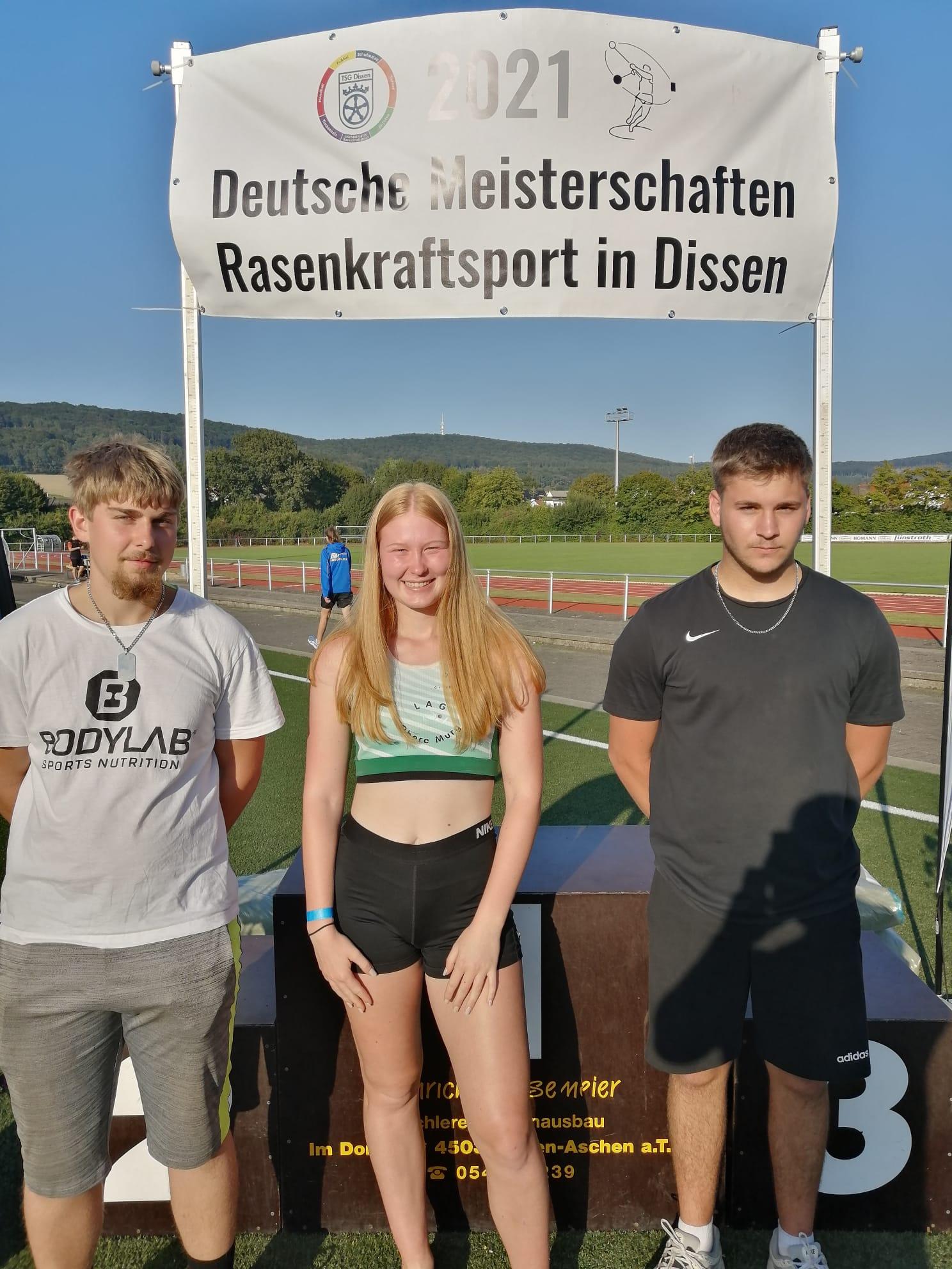 Deutsche Meisterschaften Rasenkraftsport 2021 in Dissen