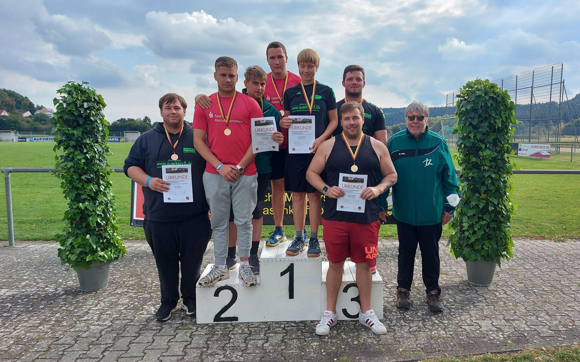 Langenbrander Rasenkraftsportler bei den Süddeutschen Meisterschaften