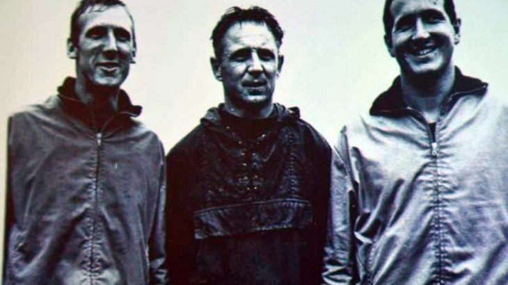 Franz Spissinger mit Kollegen