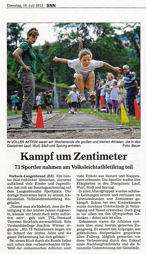 Volksleichtathletiktag 2012