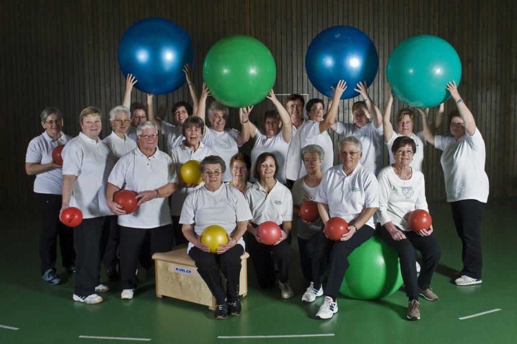 Gruppenbild, Hausfrauenturnen (Gruppe 2) im Jahr 2010