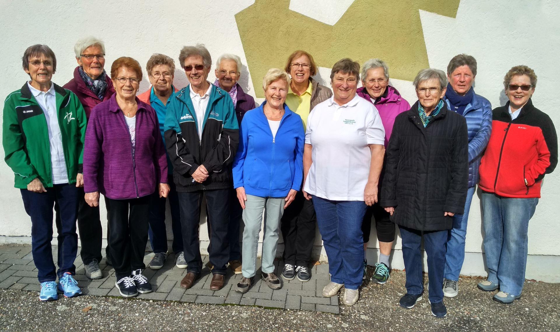Gruppenbild, Hausfrauenturnen (Gruppe 2) im Jahr 2017