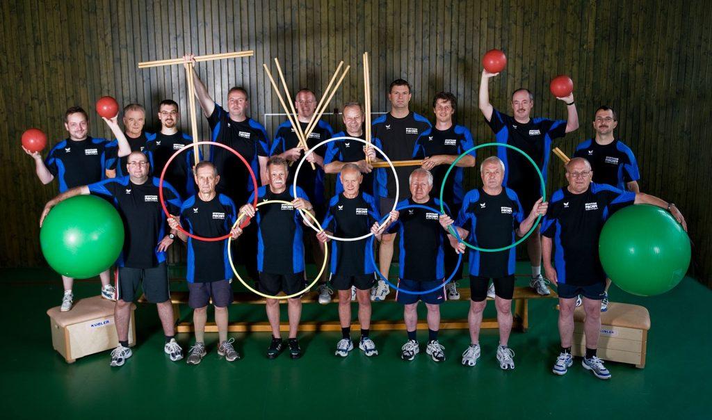 Gruppenbild, Jedermannsturnen im Jahr 2010