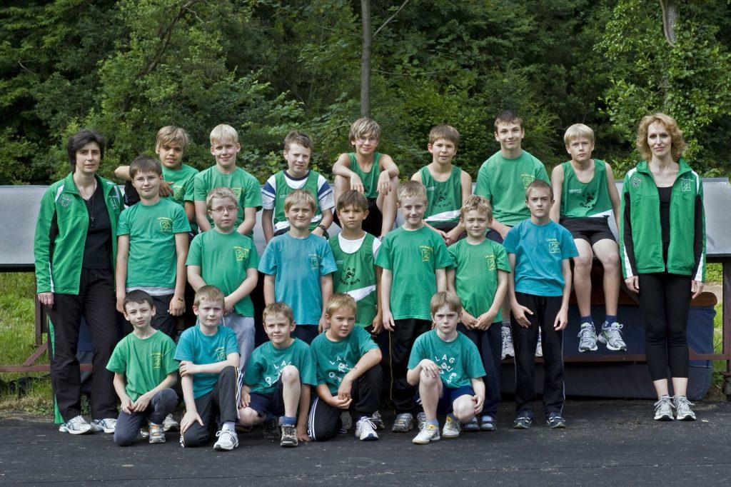 Gruppenbild, Kinderleichtathletik im Jahr 2010