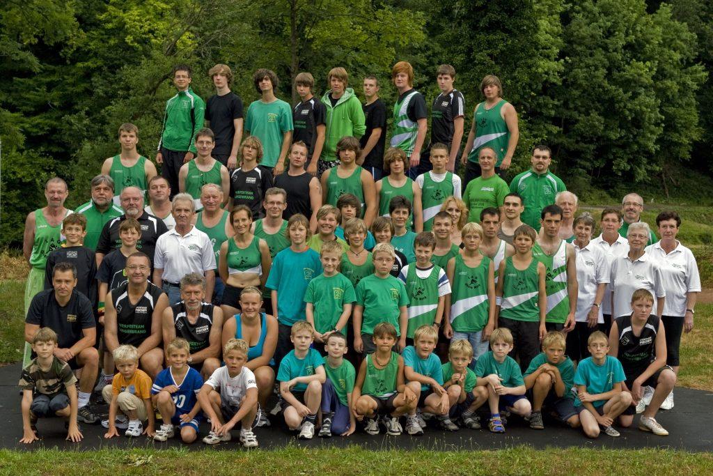 Gruppenbild, Leichtathletikabteilung im Jahr 2010