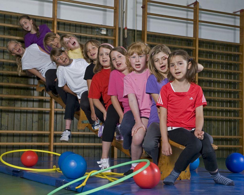 Gruppenbild, Mädchenturnen (Gruppe 1) im Jahr 2010