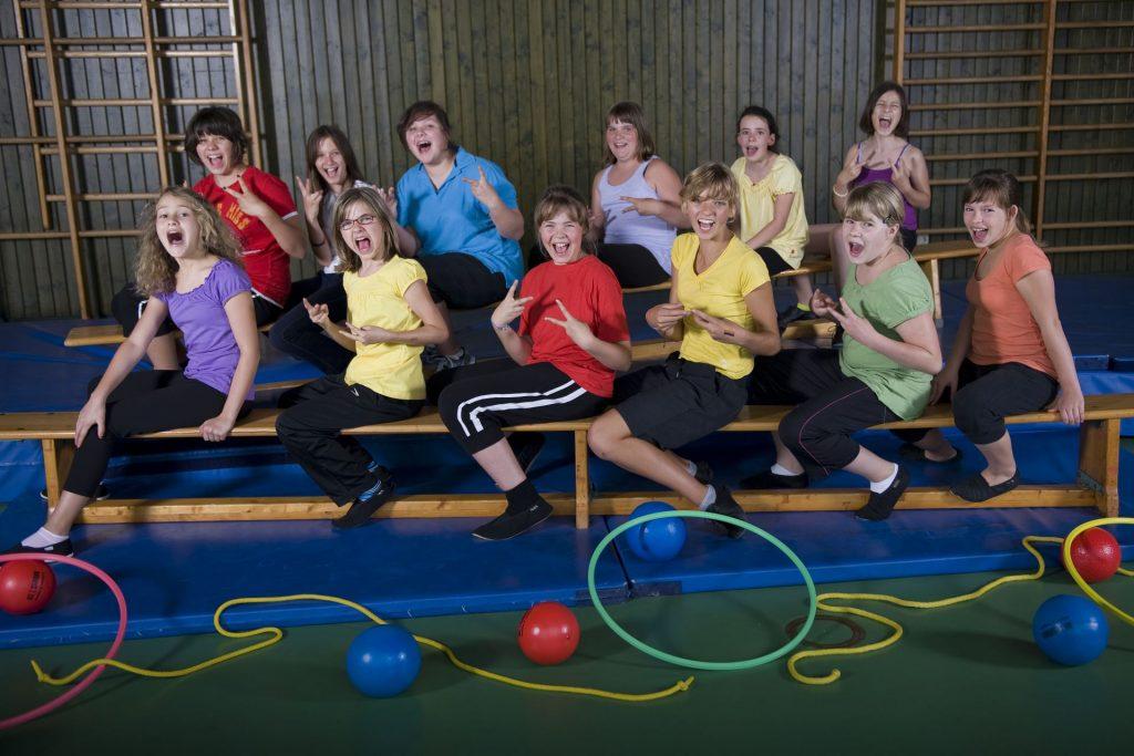 Gruppenbild, Mädchenturnen (Gruppe 2) im Jahr 2010