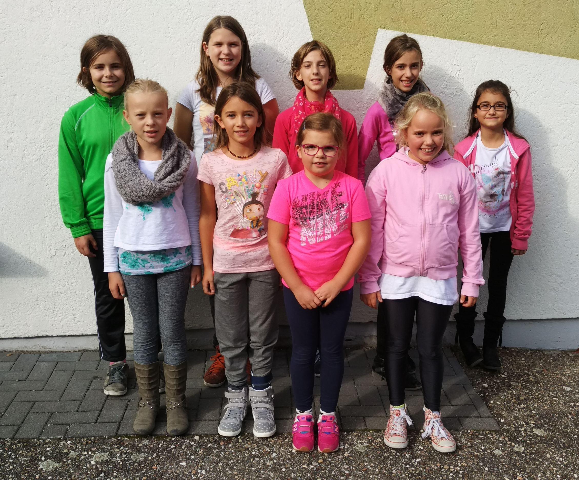 Gruppenbild, Mädchenturnen (Gruppe 1) im Jahr 2017