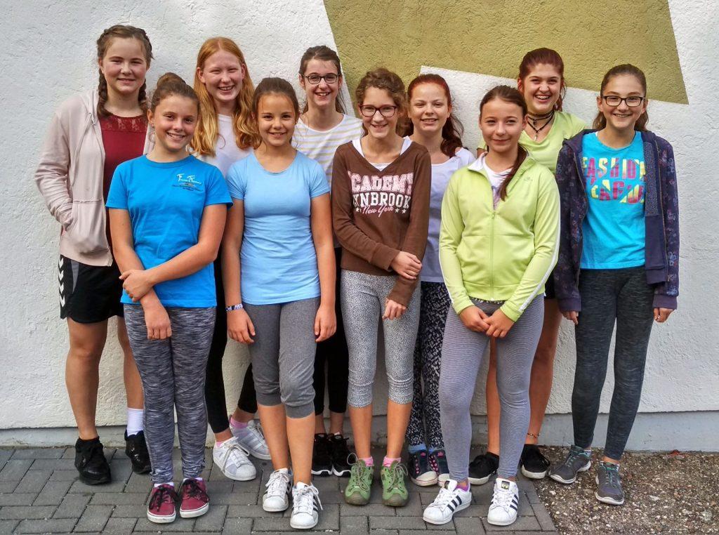 Gruppenbild, Mädchenturnen (Gruppe 2) im Jahr 2017