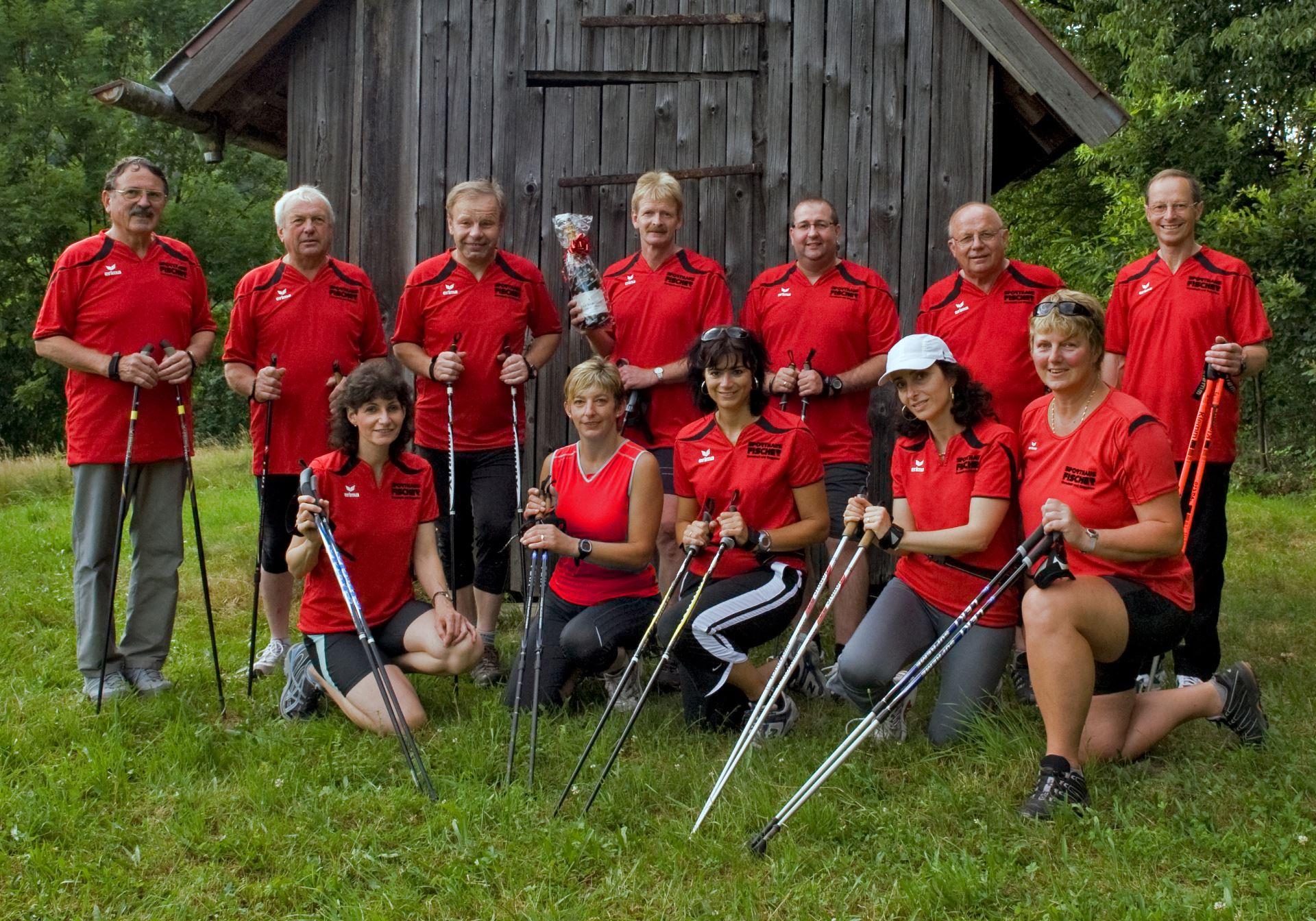 Gruppenbild, Nordic Walking im Jahr 2010