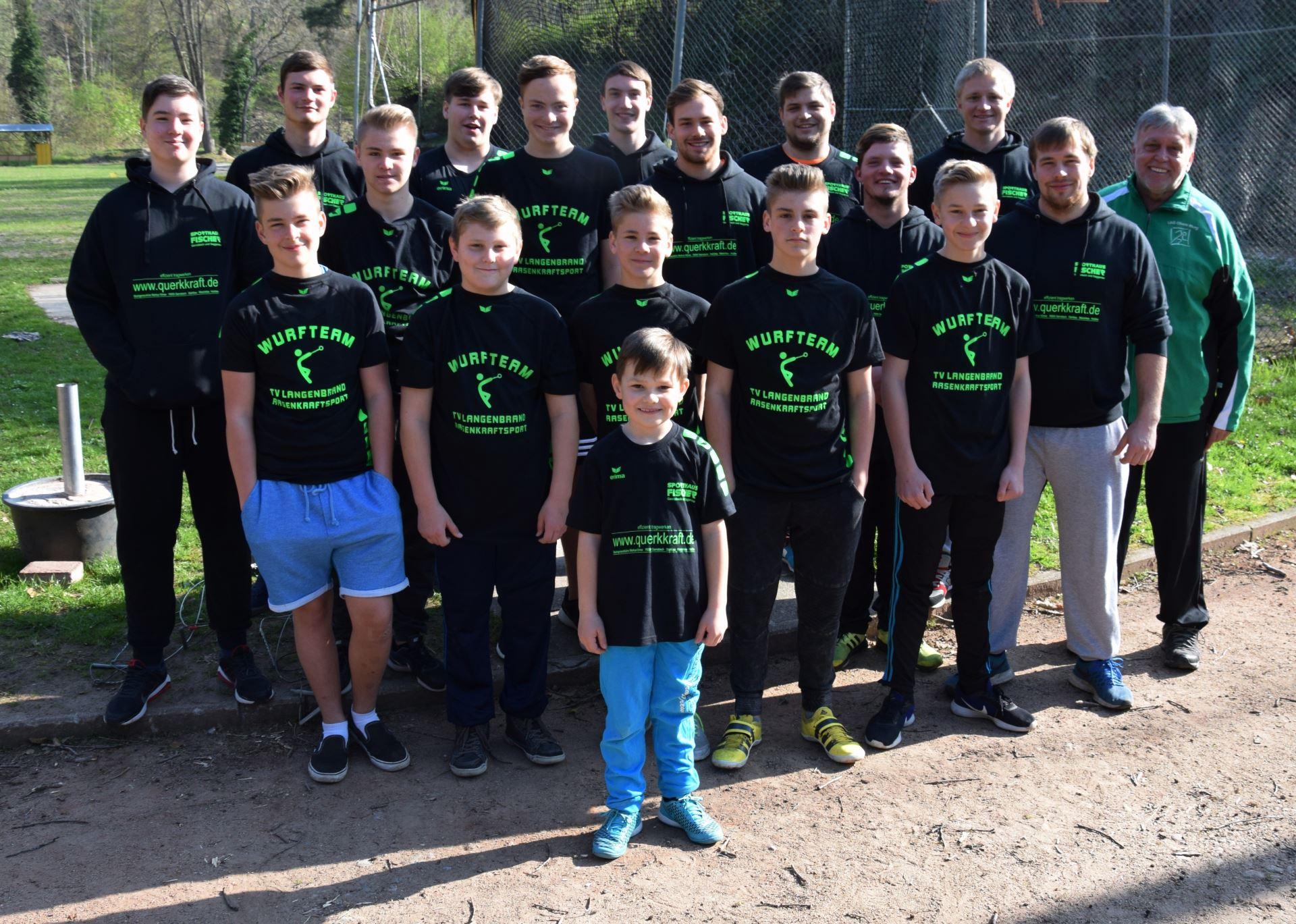 Gruppenbild, Abteilung Rasenkraftsport im Jahr 2017