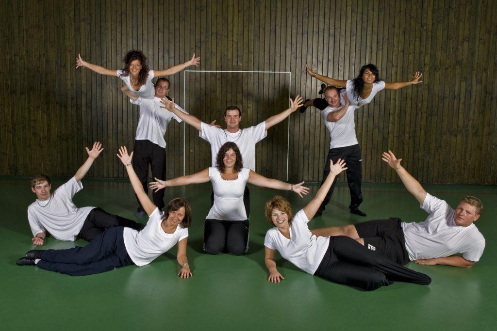 Gruppenbild, Sonntagsturnen im Jahr 2010