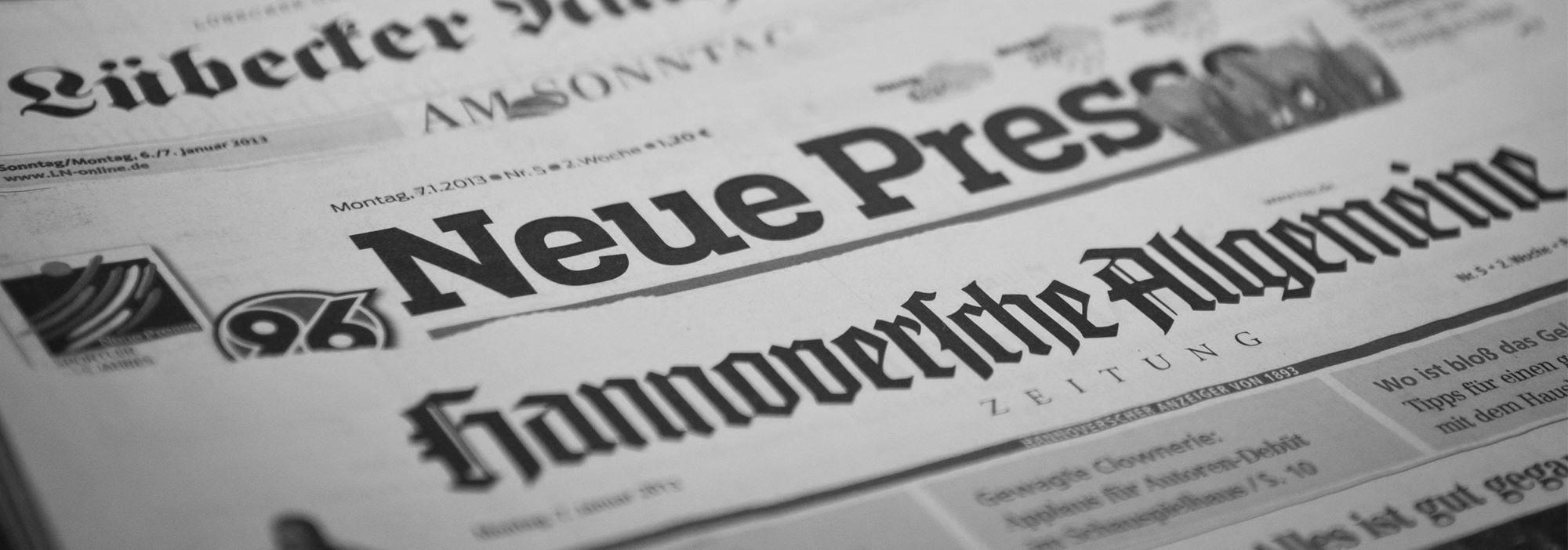 Zeitungsartikel (Header)